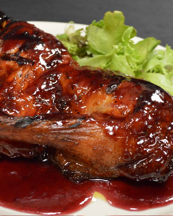 Italian Food - Sauteed Duck Drizzled With Raspberry Vinaigrette