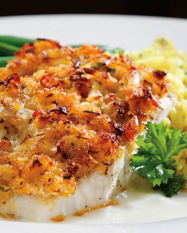 Nut Crusted Grouper With Fresh String Beans